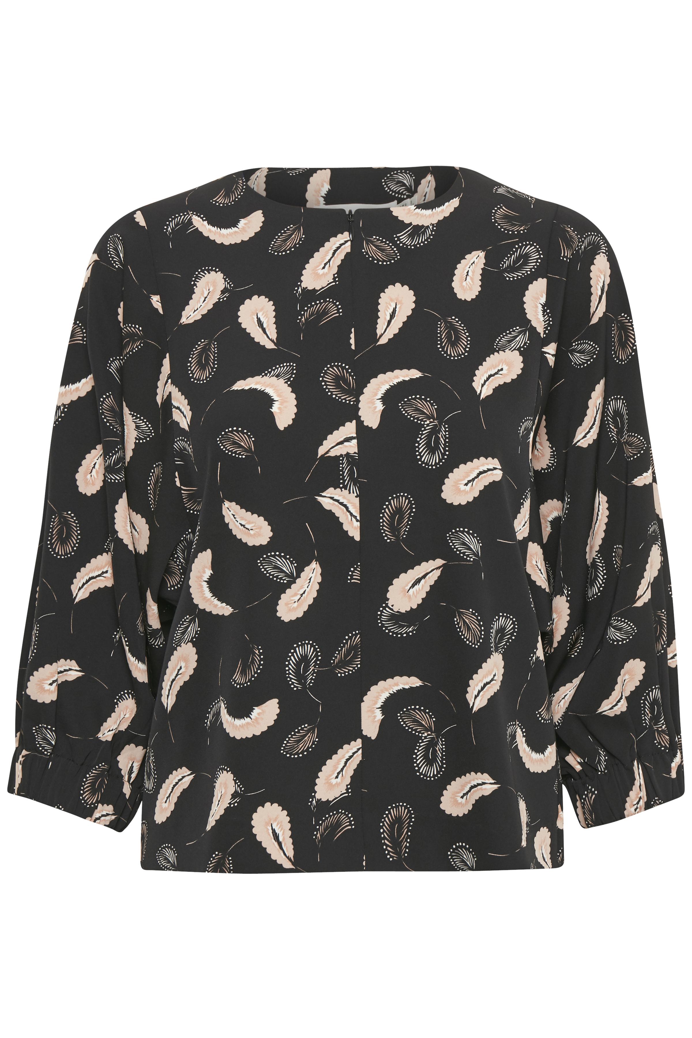 Black Abstract Paisley Langærmet skjorte – Køb Black Abstract Paisley Langærmet skjorte fra str. 34-44 her