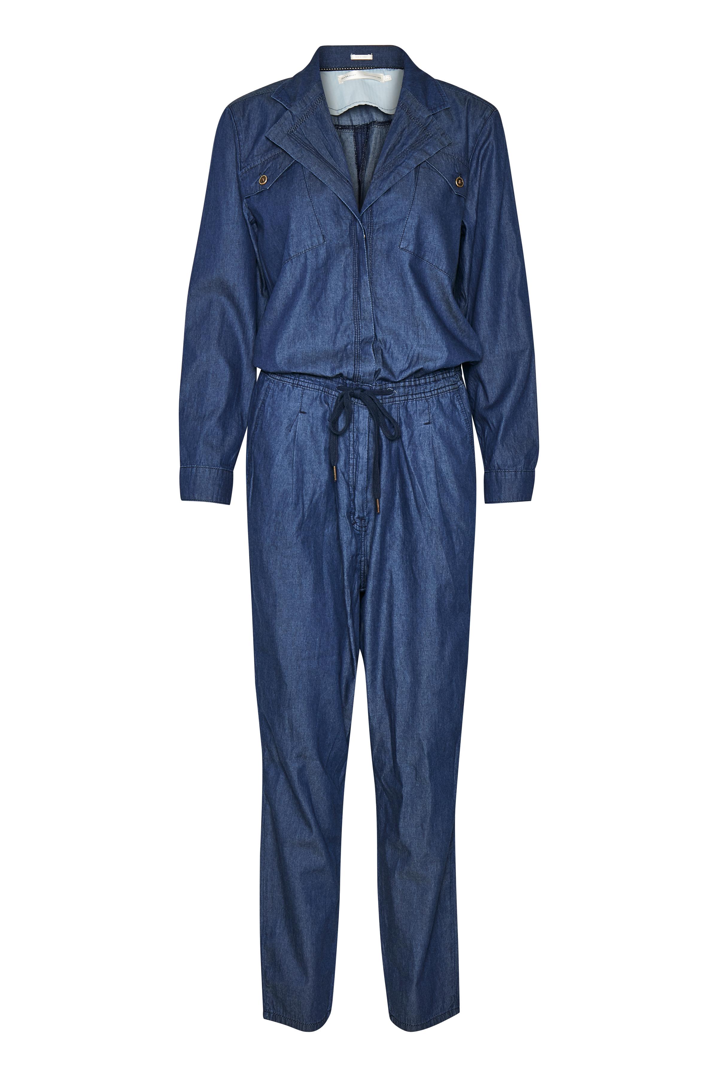 Blue Denim Wash Jumpsuit – Køb Blue Denim Wash Jumpsuit fra str. 32-42 her
