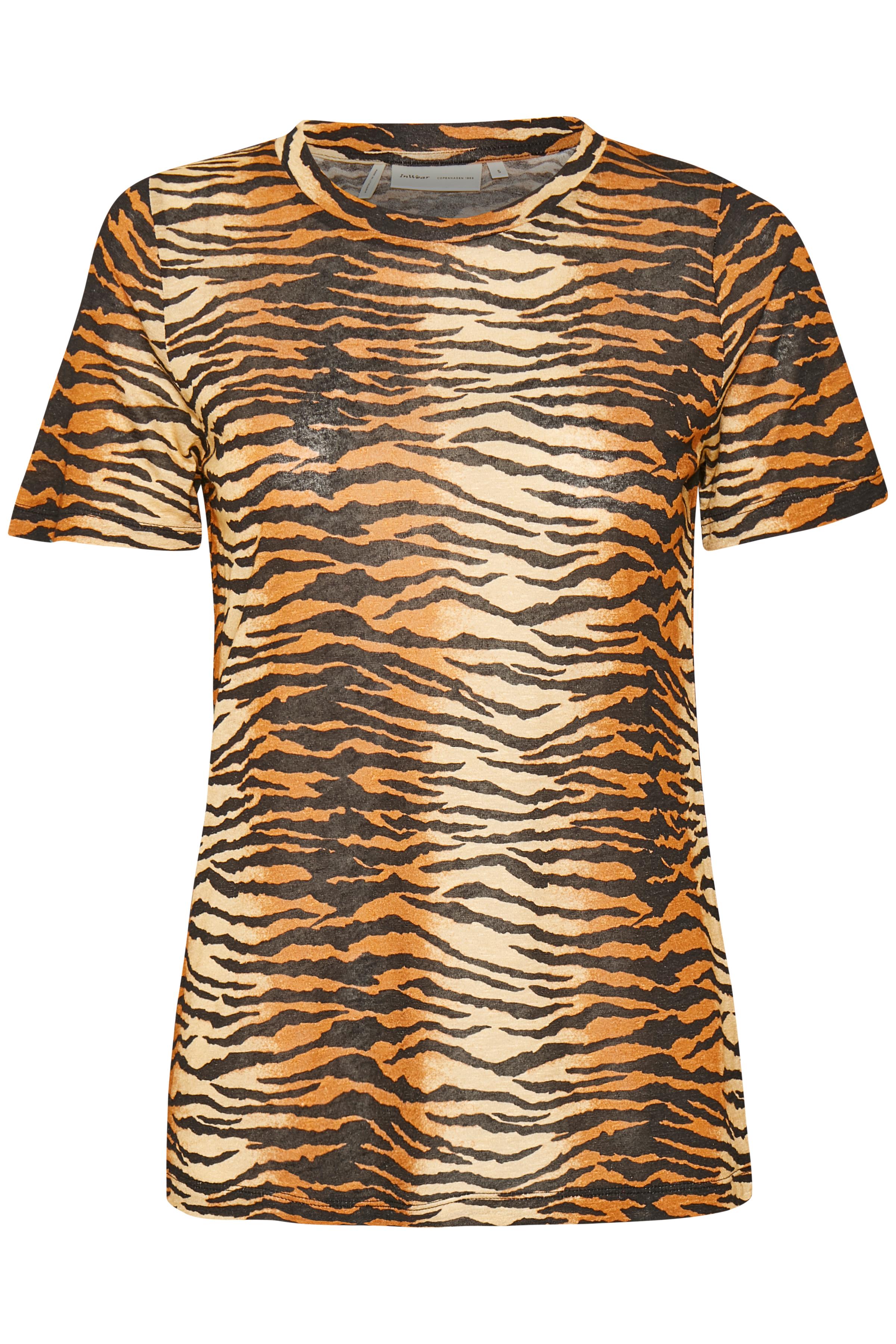 Brown Tiger Stripe T-Shirt – Køb Brown Tiger Stripe T-Shirt fra str. XS-XXL her