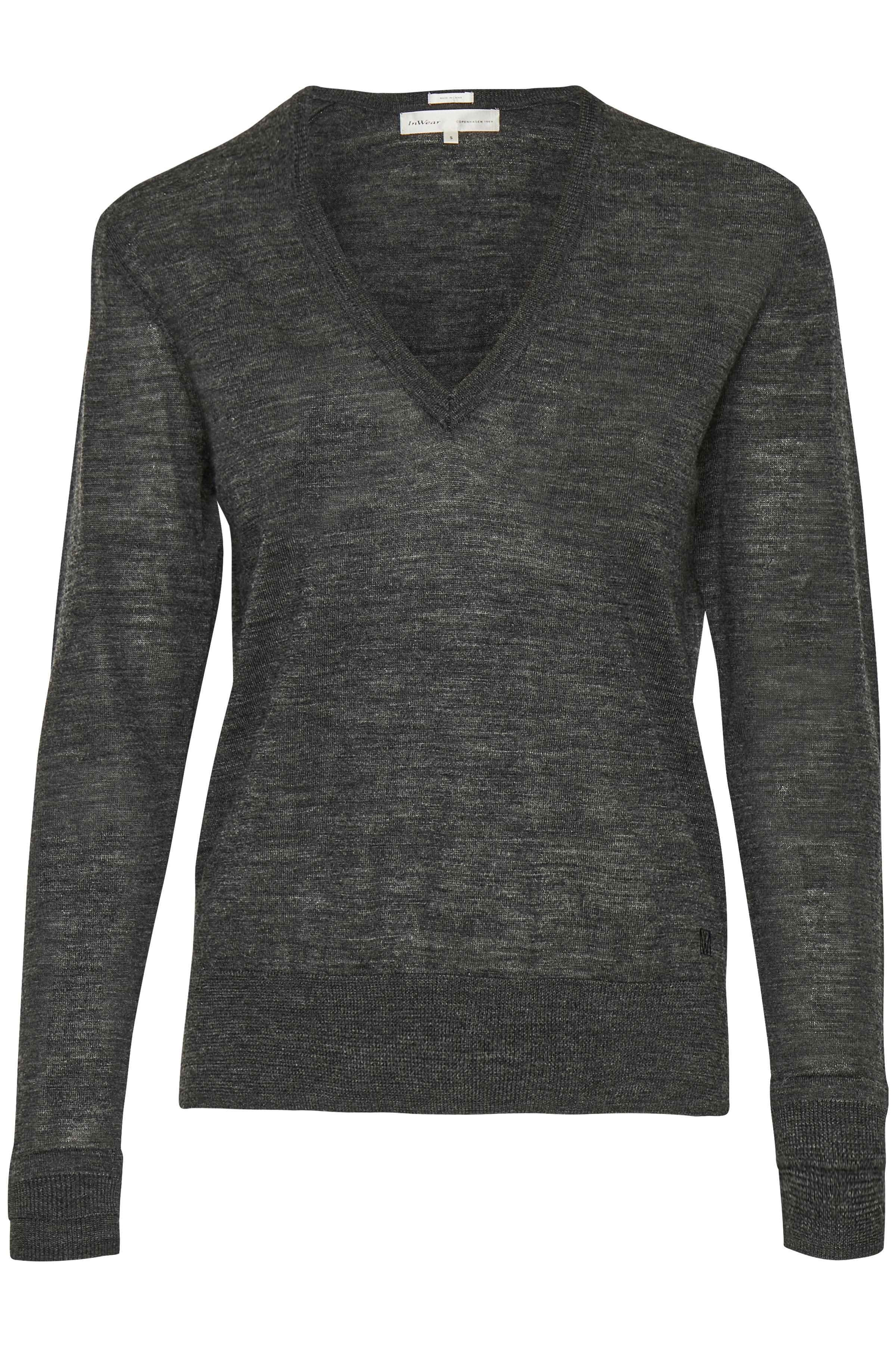 Dark Grey Melange Strikpullover – Køb Dark Grey Melange Strikpullover fra str. S-L her