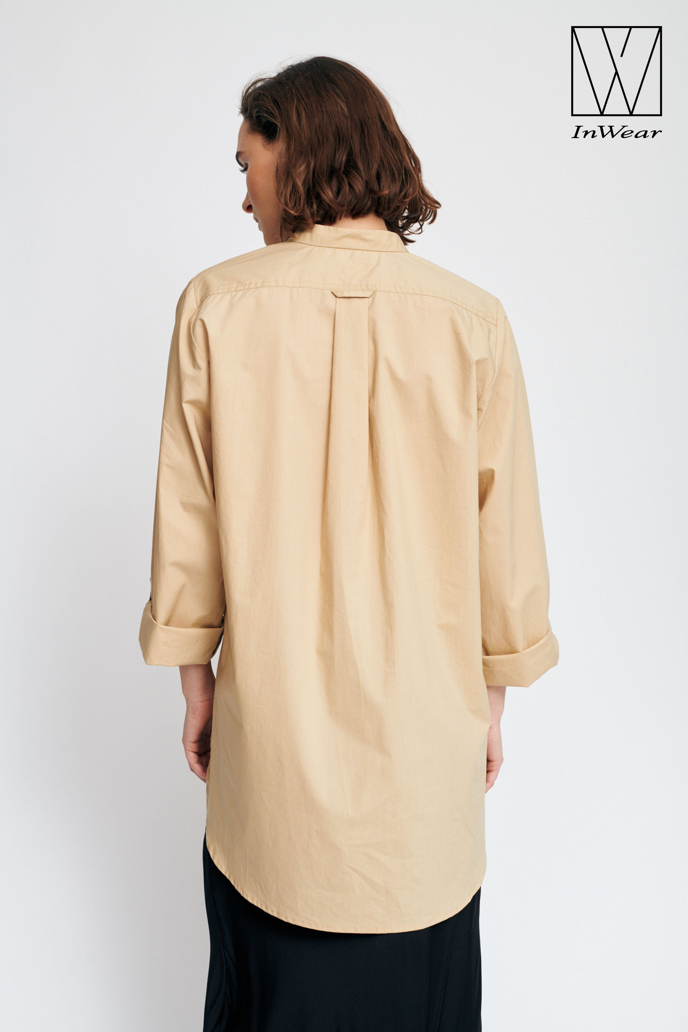 Dark Sand Langærmet skjorte – Køb Dark Sand Langærmet skjorte fra str. 32-42 her