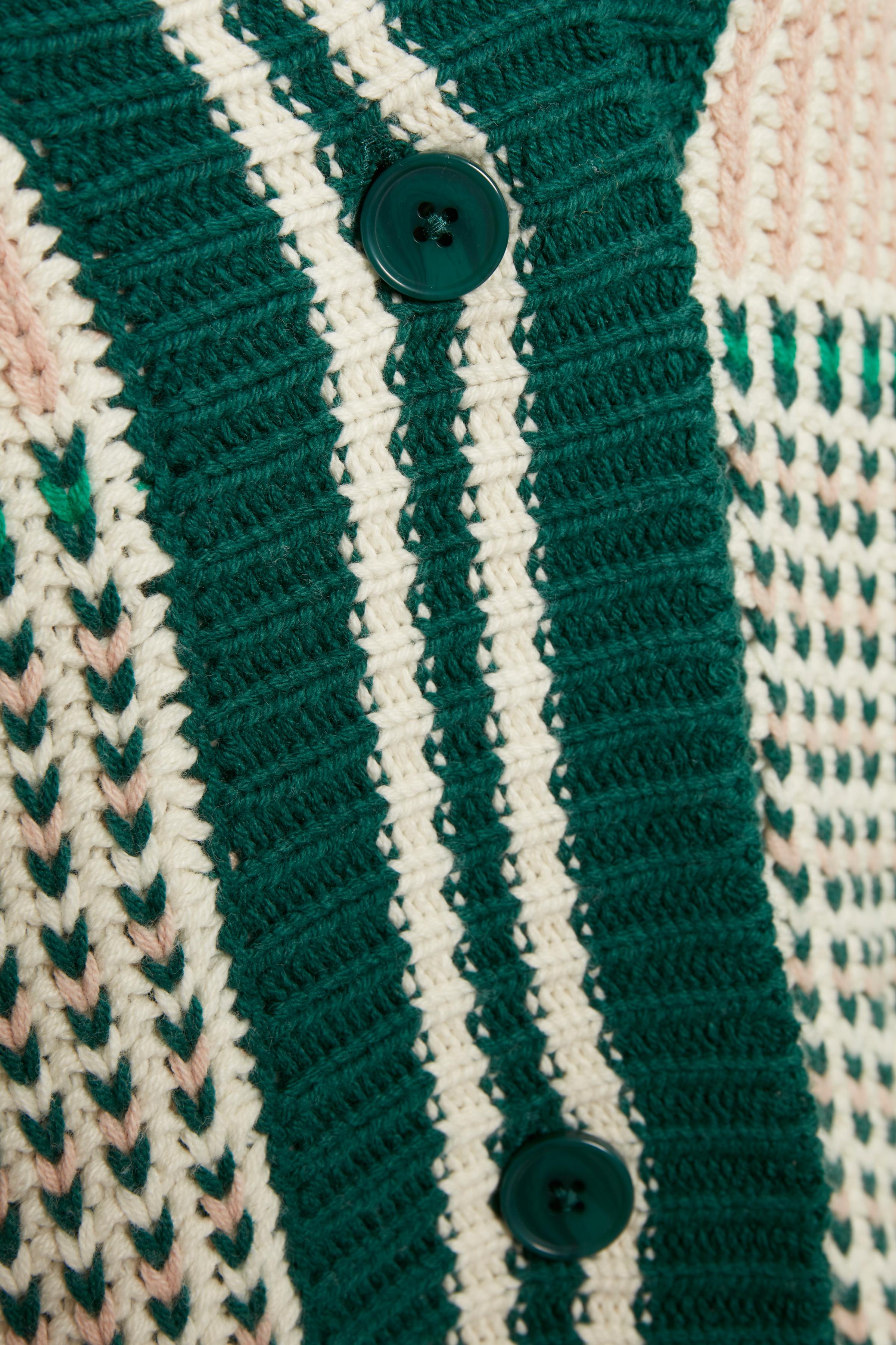 Multi stripe Strikcardigan – Køb Multi stripe Strikcardigan fra str. XXS-XXL her