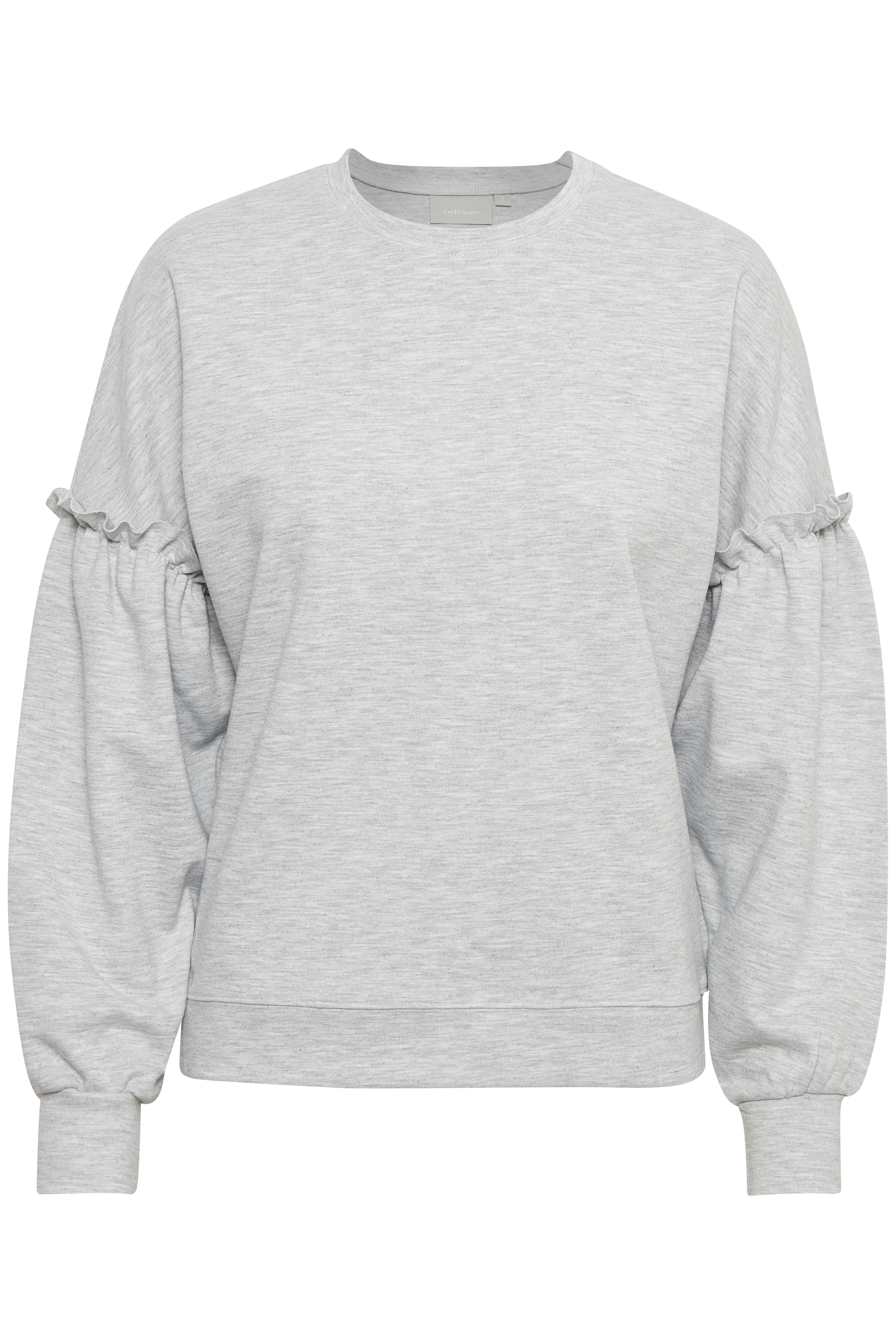 New Light Grey Melange Langærmet T-shirt – Køb New Light Grey Melange Langærmet T-shirt fra str. XS-XL her