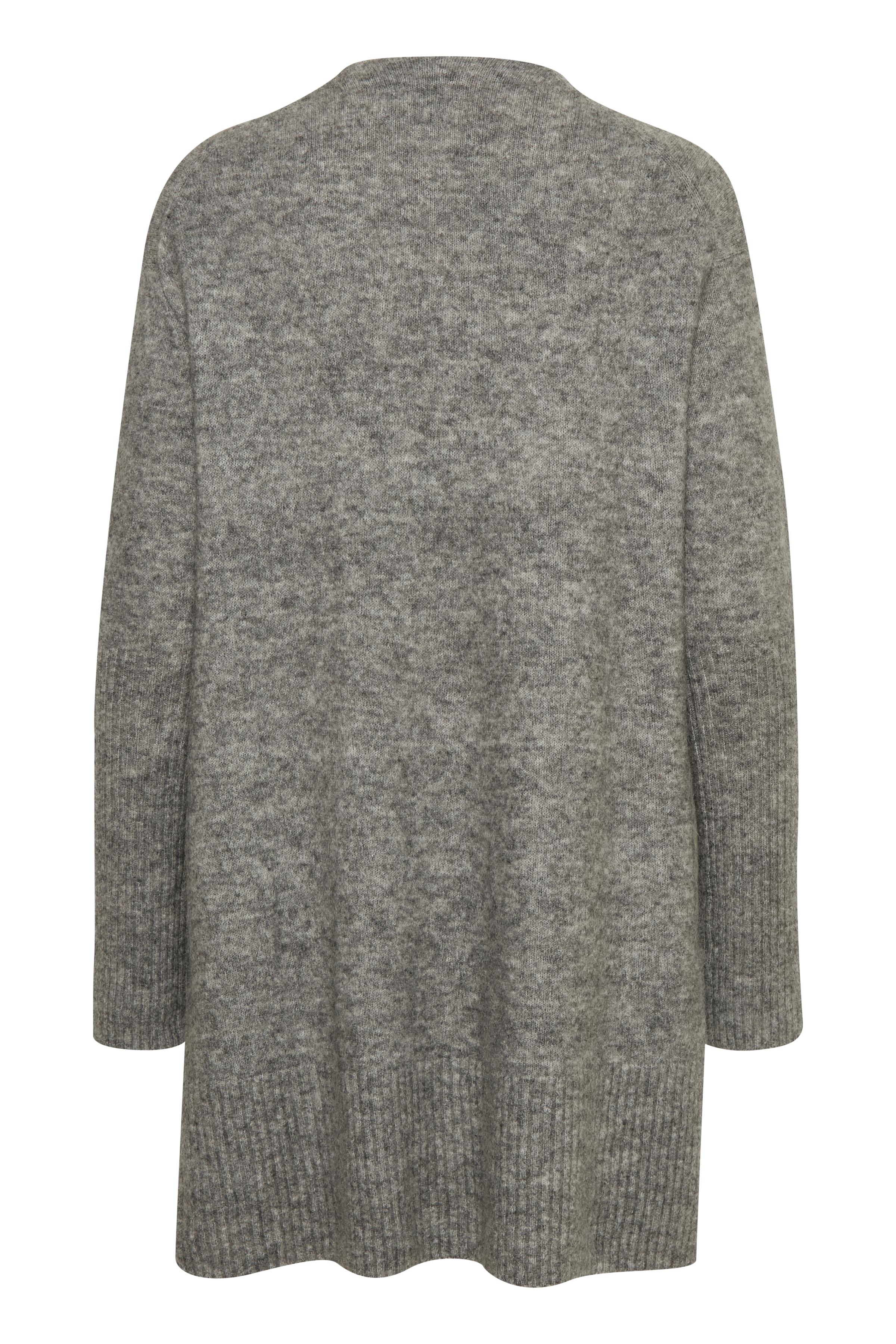 New Light Grey Melange Strikcardigan – Køb New Light Grey Melange Strikcardigan fra str. S-L her