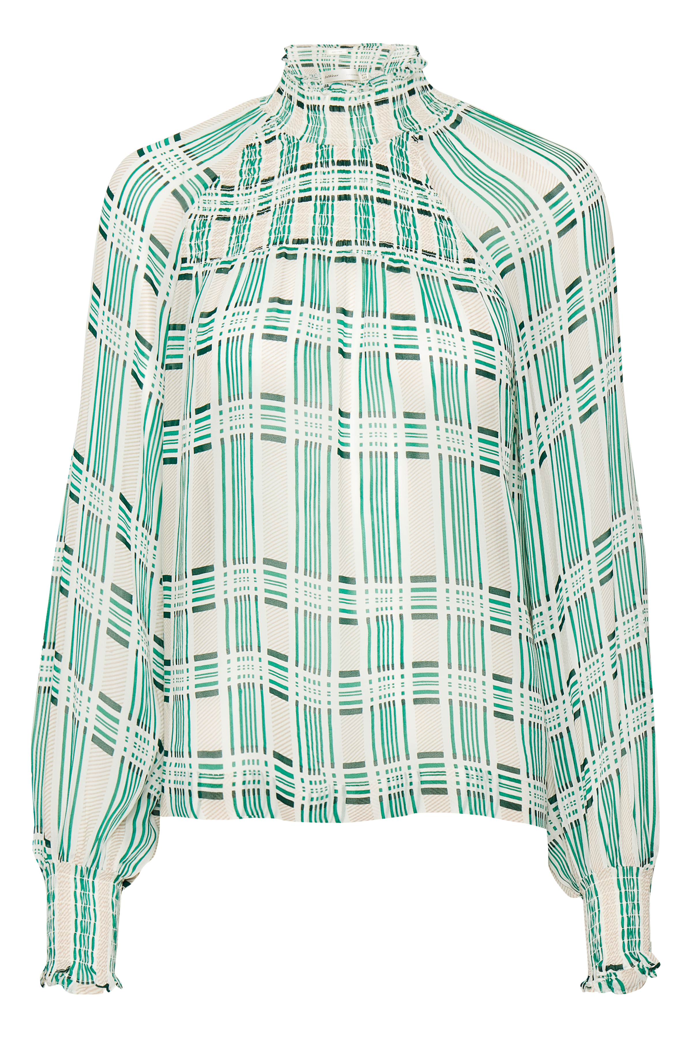 Rose Dust Graphic Check Top – Køb Rose Dust Graphic Check Top fra str. 32-42 her