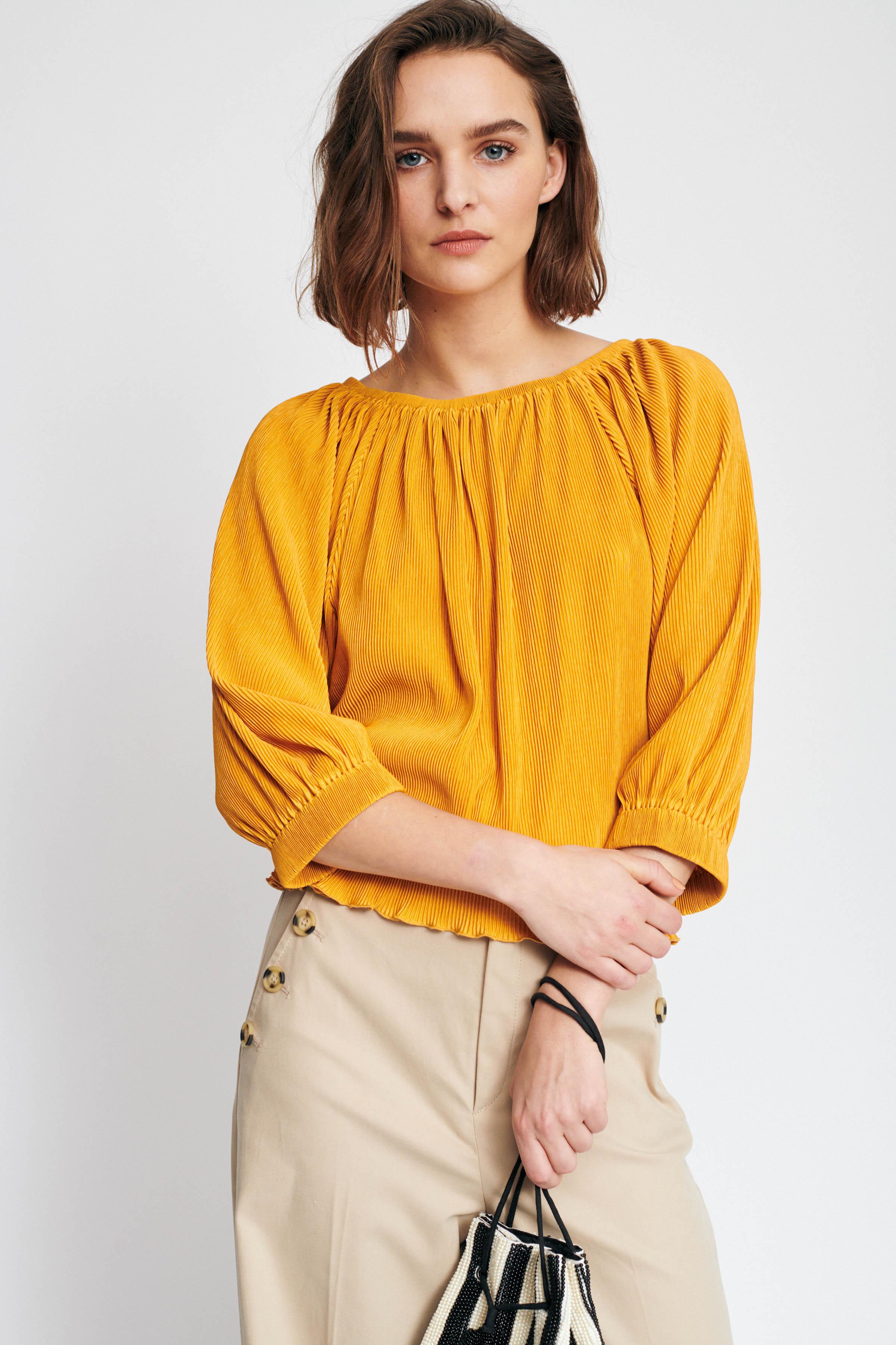 Sunny Yellow Langærmet T-shirt – Køb Sunny Yellow Langærmet T-shirt fra str. XXS-XL her