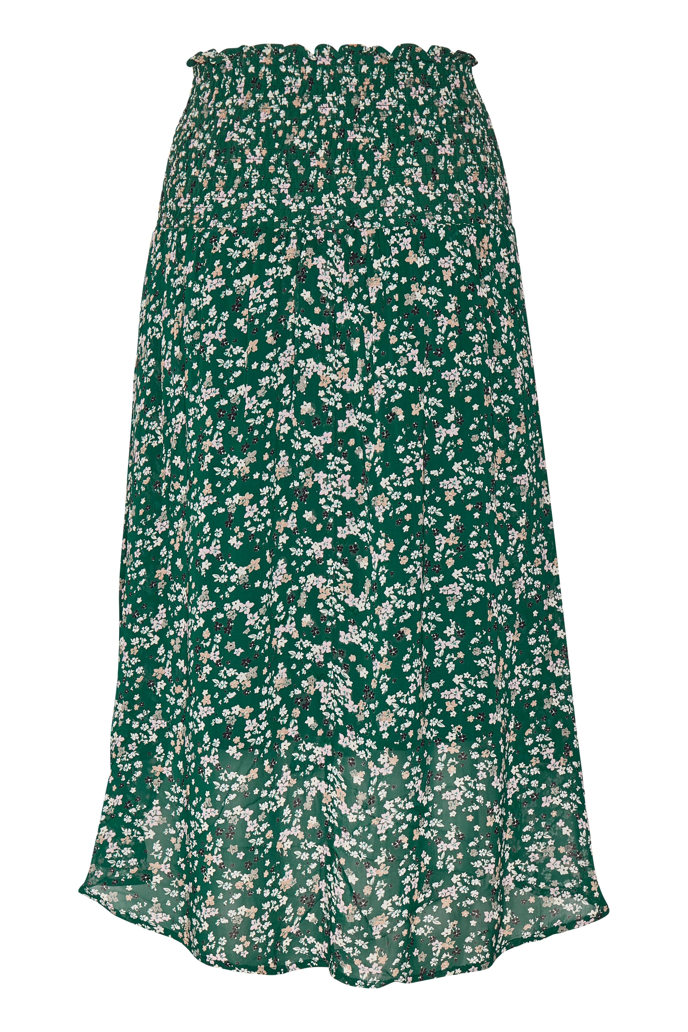 Warm Green Ditsy Flowers Nederdel – Køb Warm Green Ditsy Flowers Nederdel fra str. 32-44 her