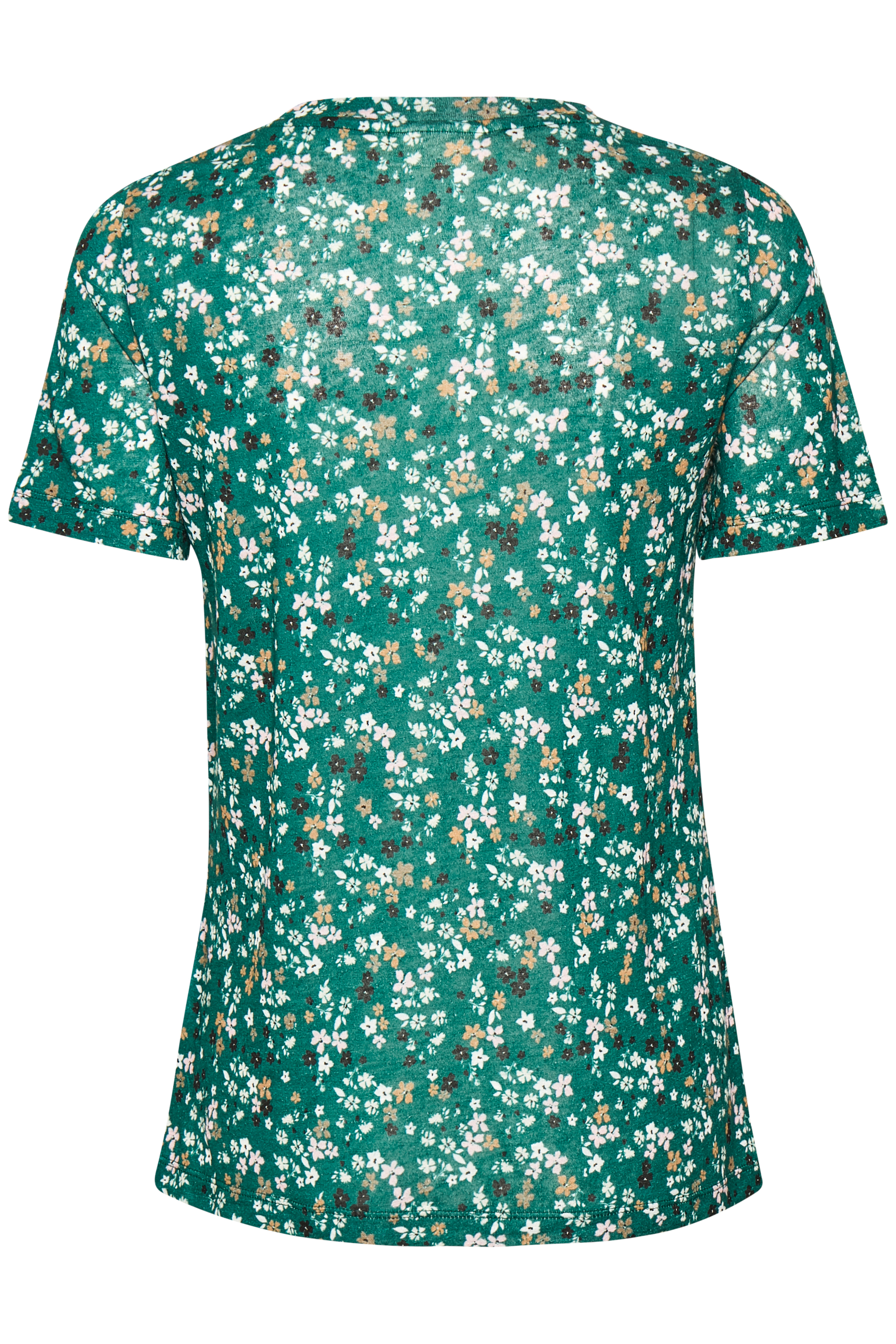Warm Green Ditsy Flowers T-Shirt – Køb Warm Green Ditsy Flowers T-Shirt fra str. XS-XXL her